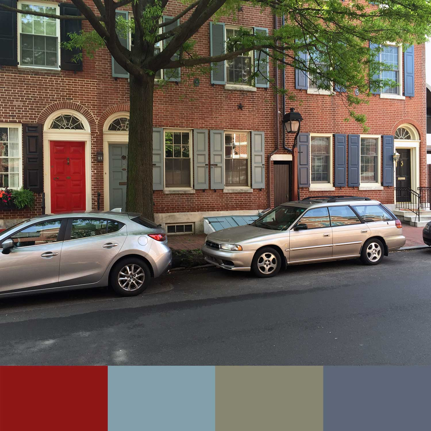 Colorful shutters and doors around Philadelphia